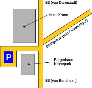 Anfahrt Kronepark